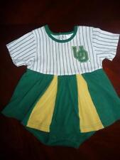 Kid Athlete Baby Girl Baseball dress white/green sz 12 mn