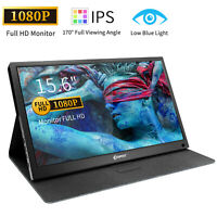 "Corprit 15.6"" Portable Monitor IPS LCD FHD 1080P Display Screen HDMI/USB Type-C"