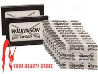 2 Pack x Genuine WILKINSON SWORD Double Edge Shaving Razor Barber Cut 10 Blades