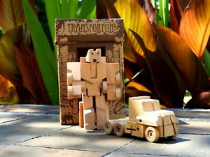 WooBot - Wooden Robot Transforms into a Truck