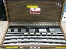Starrett Webber S2C85MA1 Croblox Cro Steel 68 Piece Gage Block Set Metric ET30