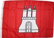 Flag of Hamburg 3x5 ft German City Germany Banner Red White Castle Red White