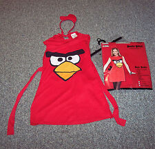 Angry Birds Sassy RED Bird Childs L Large 10/12 Halloween Costume EUC