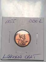 1955 DOUBLE DIE OBVERSE DDO LINCOLN CENT