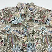 Cooke Street Honolulu Button Up Shirt Men's 2XL XXL Short Sleeve Tropical Print