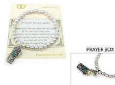 """Inspirational """"A Prayer for my Mother"""" Stretch Bracelet w Prayer Box w Card"""