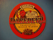 Beer Pub Coaster <> EVERARDS Brewery Dare Devil Winter Warmer ~ Established 1849