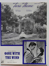 Vintage Tara Theme Sheet Music From Gone With the Wind, Gable O'Hara Cover