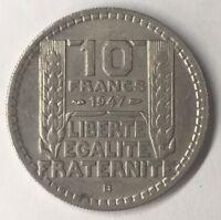 Rare 10 Francs Turin 1947B Petite Tête Monnaie Française TTB/ Sup N2