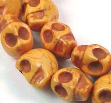 12mm small Orange Turquoise Skull Beads Halloween (16)