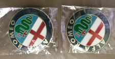 ALFA Romeo badge x 2 Gold 74 mm ALUMINIUM BADGE EMBLEMS 147 156, 159,166