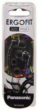 Panasonic Ergo Fit Design Stereo Earphones - Black (RP-HJE125E-K)
