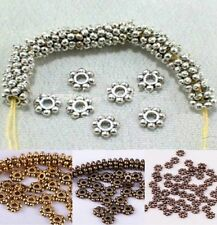 Hot 1000pcs/Lots Tibetan Daisy Spacer Metal Beads 4mm Jewelry Making Wholesale
