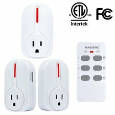 Remote Control Outlets, Wireless Smart Home Socket Switch Plug ETL-Listed
