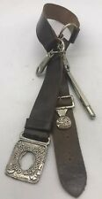 More details for vintage early girl guides leather belt john leckie walsall + pencil attachment