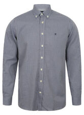HACKETT OF LONDON MEN'S MINI CHECK FITTED SHIRT IN NAVY BLUE / BNWT /