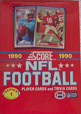 1990 Series 1 Score NFL Football Sports Trading Card new Box