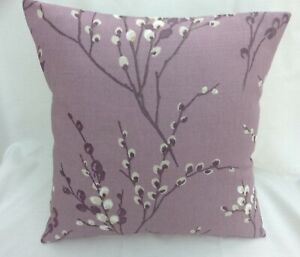 Laura Ashley Designer Cushion Cover PUSSY WILLOW Grape Fabric Various Sizes