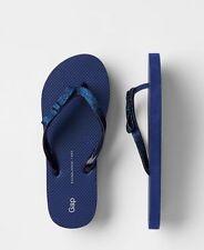 GAP Kids / Toddler Girl Size 10 / 11 Blue Glitter Thong Flip Flops Sandals Shoes