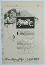 Vtg Harley Davidson advertisement 1920 Print magazine motorcycle advert