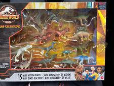Jurassic World Camp Cretaceous Dinosaurs: 15 Mini Action Dinosaurs NIB