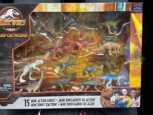 Jurassic World Camp Cretaceous Dinosaurs: 15 Mini Action Dinosaurs NIB