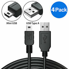 4x 3ft Mini USB Cable Data Sync Charging 5 Pin Cord for Canon GPS PS3 Controller