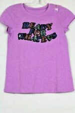 "Justice Girls' Purple Shirt - Reversible Sequins Graphic ""READY FOR WHATEVS"""