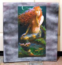 "Victor Nizovtsev ""Reflections"" Mermaid Giclee Bowed & Embellished Wooden Frame"