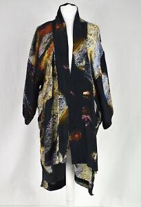 Barbara i Gongini Multicoloured Silk Kimono Jacket  One Size