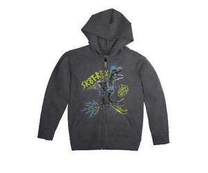 Hanes Boys ComfortBlend Dinosaur Full-Zip Hoodie Sweatshirt FreshIQ Sz XL 14-16
