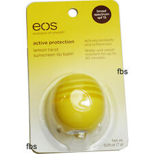 EOS Lip Balm Lemon Twist Sunscreen Evolution of Smooth USA Sphere 0.25 oz