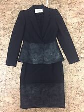 Rare Runway Valentino Black Wool/Lace Skirt Suit NWOT (Retail $2950)