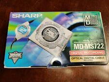 Barely Used - Vintage - Sharp Portable MiniDisc Recorder Md-Ms722