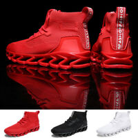 Men's Running Shoes Casual Breathable High Top Sports Tennis Sneakers Athletic