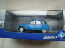 NEW MINIATURE SOLIDO  CITROEN 2 CV 6 1978 BLEUE LA DEUCHE 1/43  REF S4301900