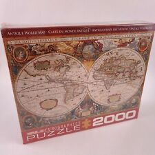 EuroGraphics Antique Map of the World Jigsaw Puzzle 2000 Piece Made in USA