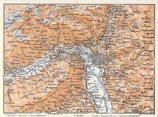 Südtirol Meran Mais Lana Naturns Marling um 1900 historische alte Landkarte map