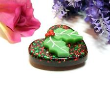 """CHRISTMAS HEART REFRIGERATOR MAGNET """"FREE SHIPPING!"""" ~HANDCRAFTED~NEW!"""