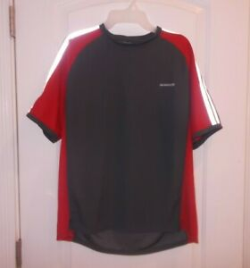 Sugoi Mens Size Large Red And Grey Short Sleeve Mesh Athletic Shirt