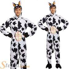 Adulto Disfraz de Vaca Animal de Granja Disfraz Mono Todo En Uno Con Pecho