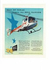 VINTAGE 1957 BELL HELICOPTER CORP. TEXAS BELL RANGER PILOT FLOAT RADIO AD PRINT
