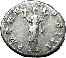 Hadrian  117AD Very Rare Silver Ancient Roman Coin Aeternitas SOL LUNA i58520