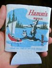HAMMS BEER CAN/BOTTLE HOLDER KOOZIE! COOZIE HAMMS BEARS FISHING! CHECK IT OUT!