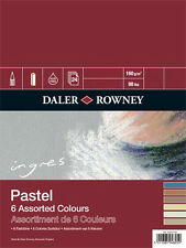 Daler Rowney : Ingres : Pastel Paper : 160gsm : 24 Sheets : 6x9in : 6 Colours