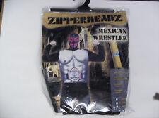 ZIPPERHEADZ MEXICAN WRESTLER MEN HALLOWEEN COSTUME SMALL