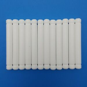 Tinkertoy 12 Rods White Replacement Parts Plastic Tinker Toy Pieces 3 Inches