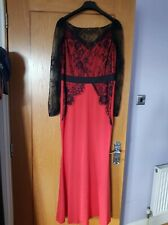 Ladies Red And Black Lace Dress Size XL