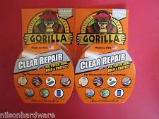 2 Gorilla Clear Repair Tape Vinyl Patch Inflatable Underwater Wet Dry Surface