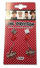 ONE DIRECTION 3 PAIR EARRING SET HEARTS & 1D LOGO NEW OFFICIAL MUSIC JEWELRY